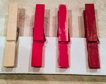 Antiqued Clothespins (bundle of 10) in custom colors, or combinations up to 3 colors