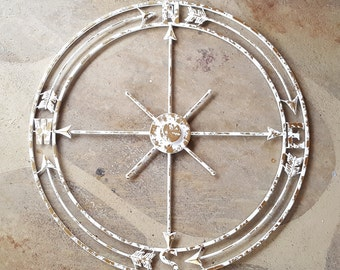 Nautical Wall Art, Nautical Metal Decor, Nautical Decor, Compass Wall Art, Metal Compass Rose, Metal Wall Art, Wall Decor, Metal Wall Decor