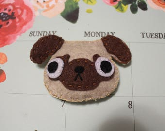 Pug Cat or Dog Toy (w/ bell and catnip OR squeaker)