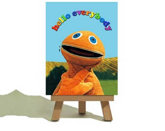 ZIPPY - RAINBOW - Awesome Miniature Canvas and Easel Set - The Perfect Gift