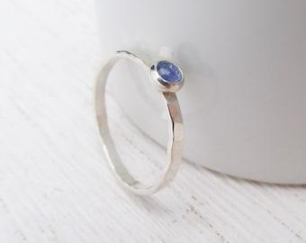 One Gemstone Stacking Ring. Single Stacking Ring. Stackable Ring. Gemstone Ring. Sterling Silver Stacking Ring. Turquoise Ring. Peridot Ring