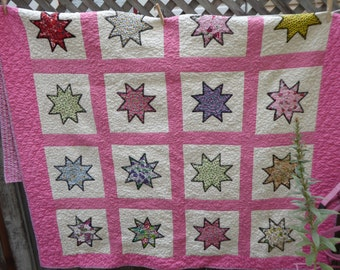 Retro Pink Quilt -- Recently Completed