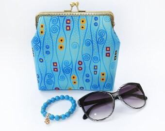 Gustav Klimt Small crossbody bag IPhone 8 wallet case Shoulder iPhone 7 plus Crossbody bag Clutch Evening bag Evening handbag Klimt print