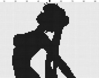 salor moon silhouette cross stitch pattern