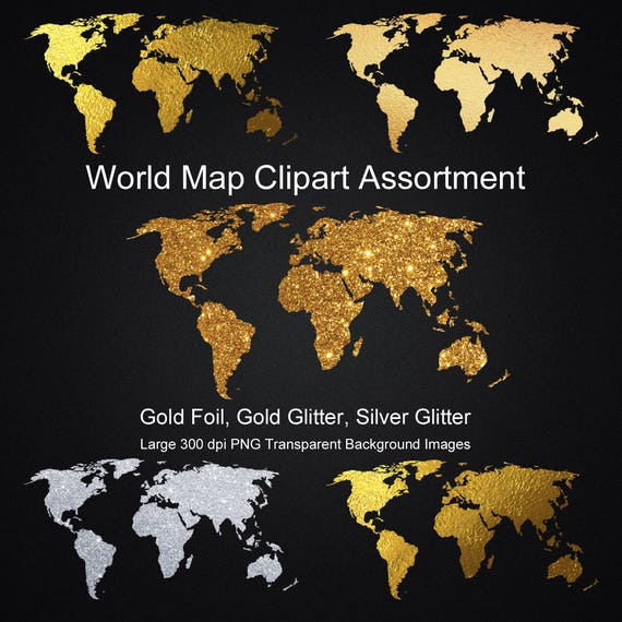 World map gold foil gold glitter silver glitter clipart assortment world map gold foil gold glitter silver glitter clipart assortment png transparent world map clip art graphics digital download from graficaitalia on etsy gumiabroncs Gallery
