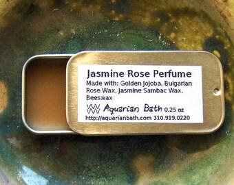 Jasmine Rose Perfume - Solid Perfume - Botanical Perfume - Floral Perfume - vegan solid perfume