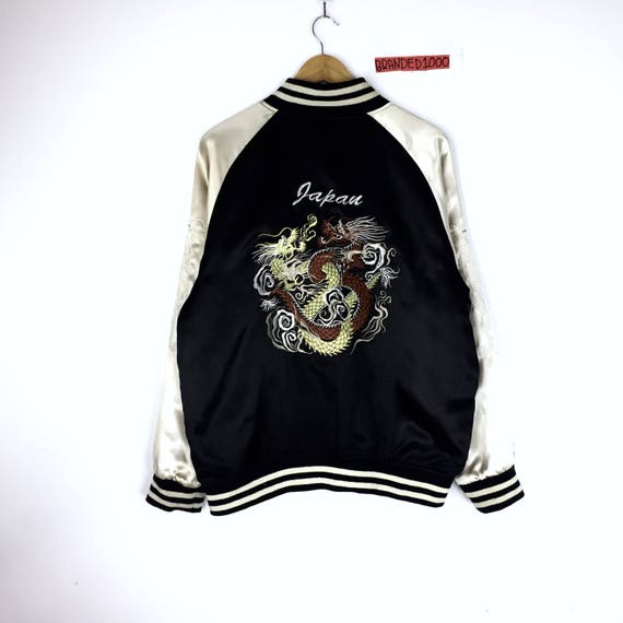 Carp Souvenirs Japanese Cherry Vintage Zipper Tiger Fighting Blossom koi Jacket Dragon Embroidery Sukajan Dragon Rare fish Bomber 6H870q0