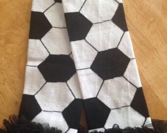 Children's Soccer leg warmers ruffles