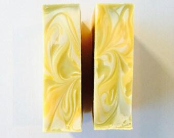 Lemongrass Soap - Organic Soap - Natural Soap - Citrus Soap - Vegan Soap - Handmade Soap - Organic Lemongrass Soap - Gentle Soap - Brooklyn