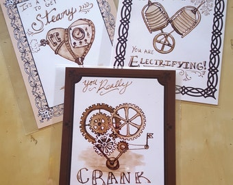 Steamy Valentine - A set of Steampunk cards for your Time Traveling Beau.