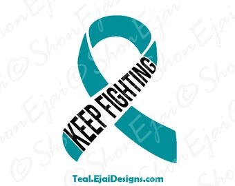 Interstitial Cystitis, Myasthenia Gravis, Dysautonomia, Scleroderma, Ovarian Cancer Svg, Cervical Cancer, Teal, Awareness SVG,