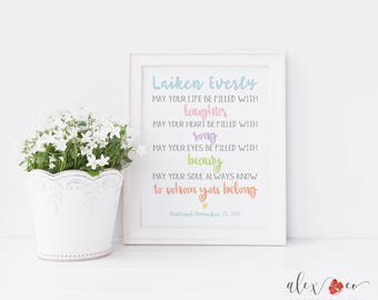Baptism quote etsy baptism printable personalized baptism gift baptism quotes baptism print baptism gift girl thecheapjerseys Choice Image