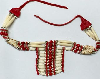 Indian jewelry bib necklace