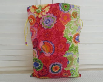 Colorful spring floral pouch