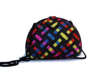 Colorful Woven Ribbon Evening Bag Purse Clutch