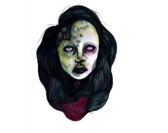 "Dark Art Print by Yureiwomb- ""Encapsulated"""