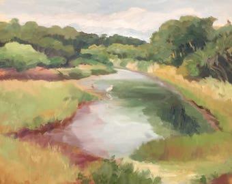 "Plein Air Painting, Myakka River, FL ""Hoping For Rain"" by Alexia Scott"