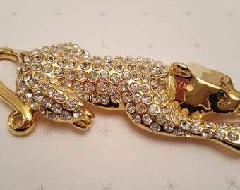 REDUCED!!!!  5 Inch IVANA Leopard Brooch