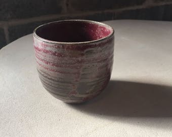 Small Grey/Red/Brown Cup - Valentines Day Gift - Mug