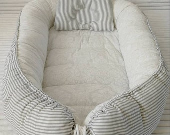 Double sided Baby Nest Bed, Babynest Newborn, Co sleeper,Snuggle Nest,Cosleeper, Cocoon,Baby lounger, Baby positoner.