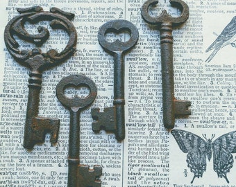 Antique Brass Skeleton Keys From Deadwood, South Dakota // Hotel Keys // Safe Keys // House Keys //