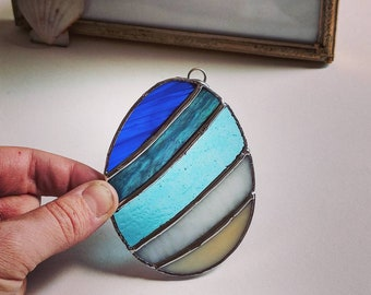 Stained Glass Easter Egg (beach)