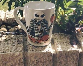 Jack Skellington Custom Mug-polymer clay