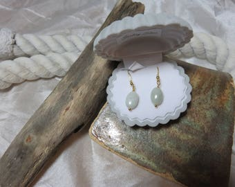JADEITE EARRING (gold overlay on sterling silver)