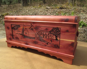 3 - D Carvings on your Aromatic Cedar Chest