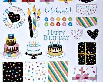 Birthday Planner Sticker Sheet - Printed Planner Sticker Sheet - Bubble Gum Planner Sticker Sheet - Planner Accessories