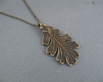 Ranger's Apprentice Bronze Oak Leaf Pendant