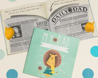 Personalised 'My Dad' Book For Father's   Father's Day Gifts   Birthday Gift for Dad   Gifts for Dad   Gifts From the Kids