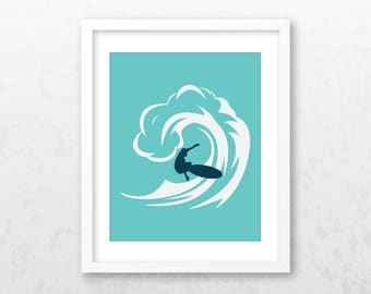 Surfboard Wall Print | Surf Art | Surf Print | Surf Wall Decor | Surfboard Art | Surfboard Wall Art | Beach Wall Art | Surfboard Print