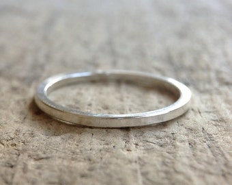 Sterling Silver Square Ring, Square Band, Sterling Silver Ring Band, Stackable Ring, Thin Ring, Silver Band, Bohemian Ring, Bohemian Jewelry