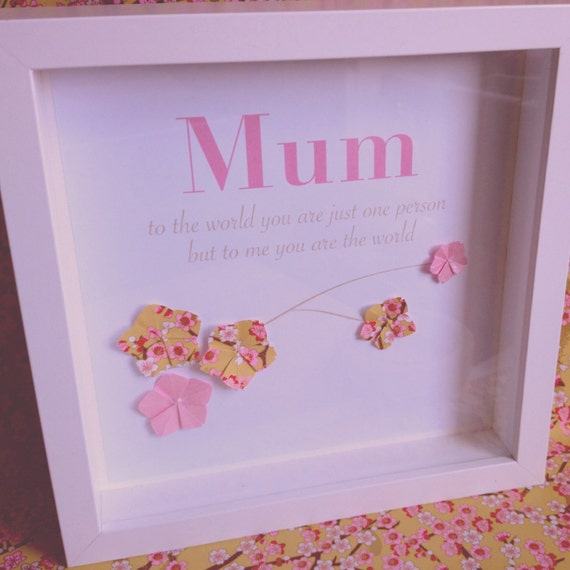 Origami cherry blossom Mothers day gift keepsake frame - photo#39
