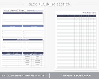 Blog Planning Section