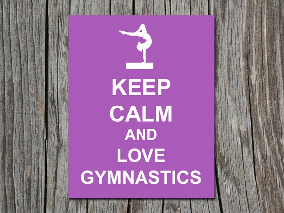 Keep Calm And Love Gymnastics Beam Gymnast Poster Wall Art