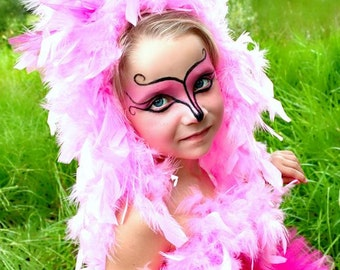 ADULT Pink Flamingo Headpiece - Costume Pink Flamingo HEADPIECE - Over The Top - Flamingo Costume - OTT headpiece - Flamingo  headband