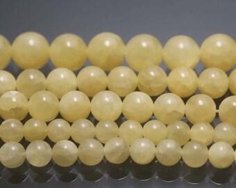 Yellow Jasper beads,Yellow Jasper Gemstone Beads,6mm 8mm 10mm 12mm Yellow Jasper beads,Smooth Round Gemstone Beads,15 inches 1 strand