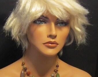 Vintage Gemstone Necklace on Gold Chain