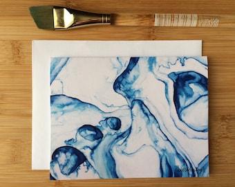 Abstract Watercolor Notecard