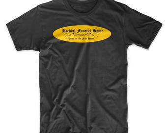 Fun Home Broadway Musical Shirt. Bechdel Funeral Home T-Shirt. Come to the Fun Home T-Shirt Black, White, Red or Gray Soft Cotton.  Comfy!