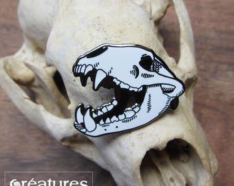 Bobby Badger - Enamel Pin - Badger Skull