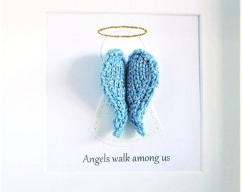 Guardian angel wall art - Angel wings - Nursery wall art - Baptism gift - Bereavement gift - Gift for parents - Grandparent gift