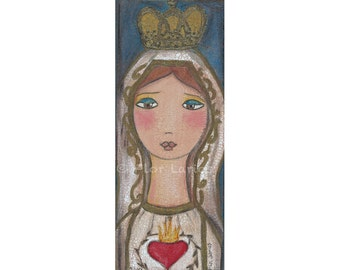Our Lady of Fatima - Print from Painting by FLOR LARIOS (3 x 7 INCHES)