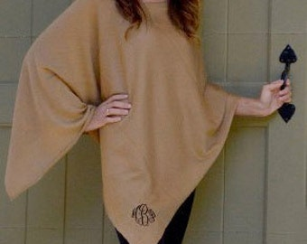 Monogrammed Poncho - Customize with Vinyl - Monogram Gift