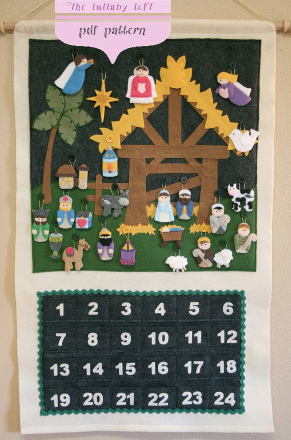 Nativity Advent Calendar Pattern Instant Digital Download