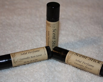 Set of Three Solid Scent Stick Perfume Natural Base