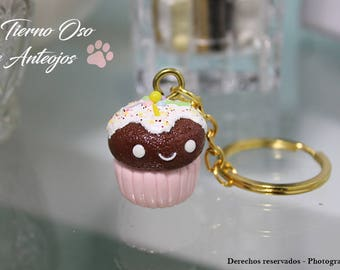 Chocolate Cupcake with whipped cream in Cold Porcelain