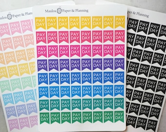 Pay Day Flags, Pay Day Reminder: Planner Sticker